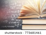 collection old books | Shutterstock . vector #773681461