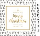 christmas golden icon elements... | Shutterstock .eps vector #773687929