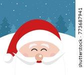 santa claus face smile... | Shutterstock .eps vector #773687941