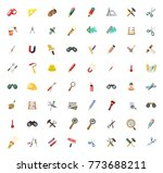 tools icons set | Shutterstock .eps vector #773688211