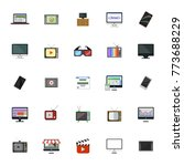 screen and monitor icons | Shutterstock .eps vector #773688229