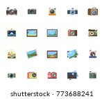 photography icons set | Shutterstock .eps vector #773688241