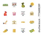 investment icon set | Shutterstock .eps vector #773688289