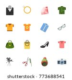 fashion icons set | Shutterstock .eps vector #773688541