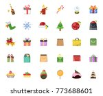 christmas icons set | Shutterstock .eps vector #773688601