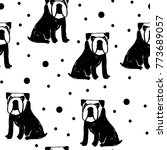 vector seamless cartoon pattern ... | Shutterstock .eps vector #773689057
