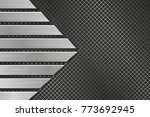 metal texture with perforation... | Shutterstock .eps vector #773692945