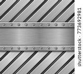 metal background. stainless... | Shutterstock .eps vector #773692981