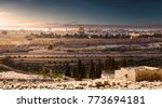 mount of olives and the old... | Shutterstock . vector #773694181