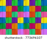 colorful pattern from seamless... | Shutterstock .eps vector #773696107