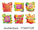 sale banners  badges  stickers  ... | Shutterstock .eps vector #773697139