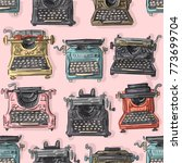 seamless pattern with antique... | Shutterstock .eps vector #773699704