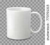 photo realistic white cup... | Shutterstock .eps vector #773701315
