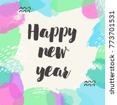 happy new year banner. vector... | Shutterstock .eps vector #773701531