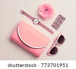 fashion. woman accessories set. ... | Shutterstock . vector #773701951