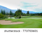 a scene of golf course... | Shutterstock . vector #773703601
