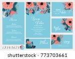 red poinsettia anemone... | Shutterstock .eps vector #773703661