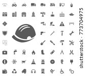 helm icon. construction and... | Shutterstock .eps vector #773704975