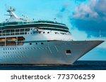luxury liner underway. tour... | Shutterstock . vector #773706259