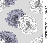 vector seamless pattern with... | Shutterstock .eps vector #773709127