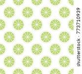 green citrus background of cut...   Shutterstock .eps vector #773710939