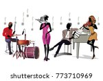 musicians at the party. jazz... | Shutterstock .eps vector #773710969