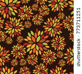seamless pattern with autumn... | Shutterstock .eps vector #773711251