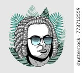 hipster classical portrait of...   Shutterstock .eps vector #773712559