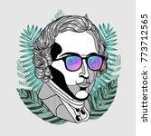 hipster classical portrait of...   Shutterstock .eps vector #773712565