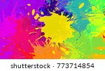 Wide Format Abstract Colorful...