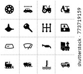 vehicle icons. vector...