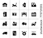 automobile icons. vector... | Shutterstock .eps vector #773719201