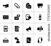 message icons. vector...