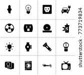 electric icons. vector...