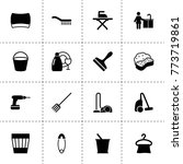 household icons. vector... | Shutterstock .eps vector #773719861