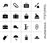 accessory icons. vector...