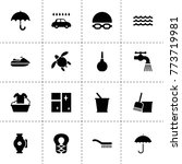 water icons. vector collection...