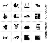 reflection icons. vector...