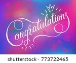 congratulations card banner...   Shutterstock .eps vector #773722465