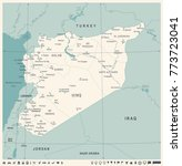 syria map  vintage high... | Shutterstock .eps vector #773723041