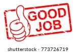 good job stamp vector... | Shutterstock .eps vector #773726719