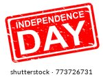 independence day stamp vector... | Shutterstock .eps vector #773726731
