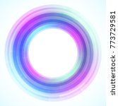 geometric frame from circles ... | Shutterstock .eps vector #773729581