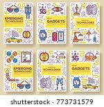 technology vector brochure... | Shutterstock .eps vector #773731579
