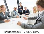 business people team at meeting ... | Shutterstock . vector #773731897