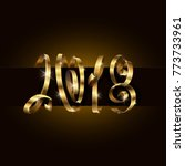 vector 2018 new year background.... | Shutterstock .eps vector #773733961