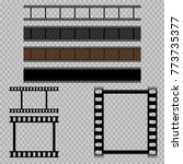 eps 10 vector old vintage film... | Shutterstock .eps vector #773735377