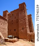 Small photo of Ait Ben Haddou or Ait Benhaddou is a fortified city along the former caravan route between the Sahara and Marrakech city in Morocco