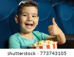 adorable happy little boy... | Shutterstock . vector #773743105