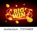 big win gold design prize for... | Shutterstock .eps vector #773744809